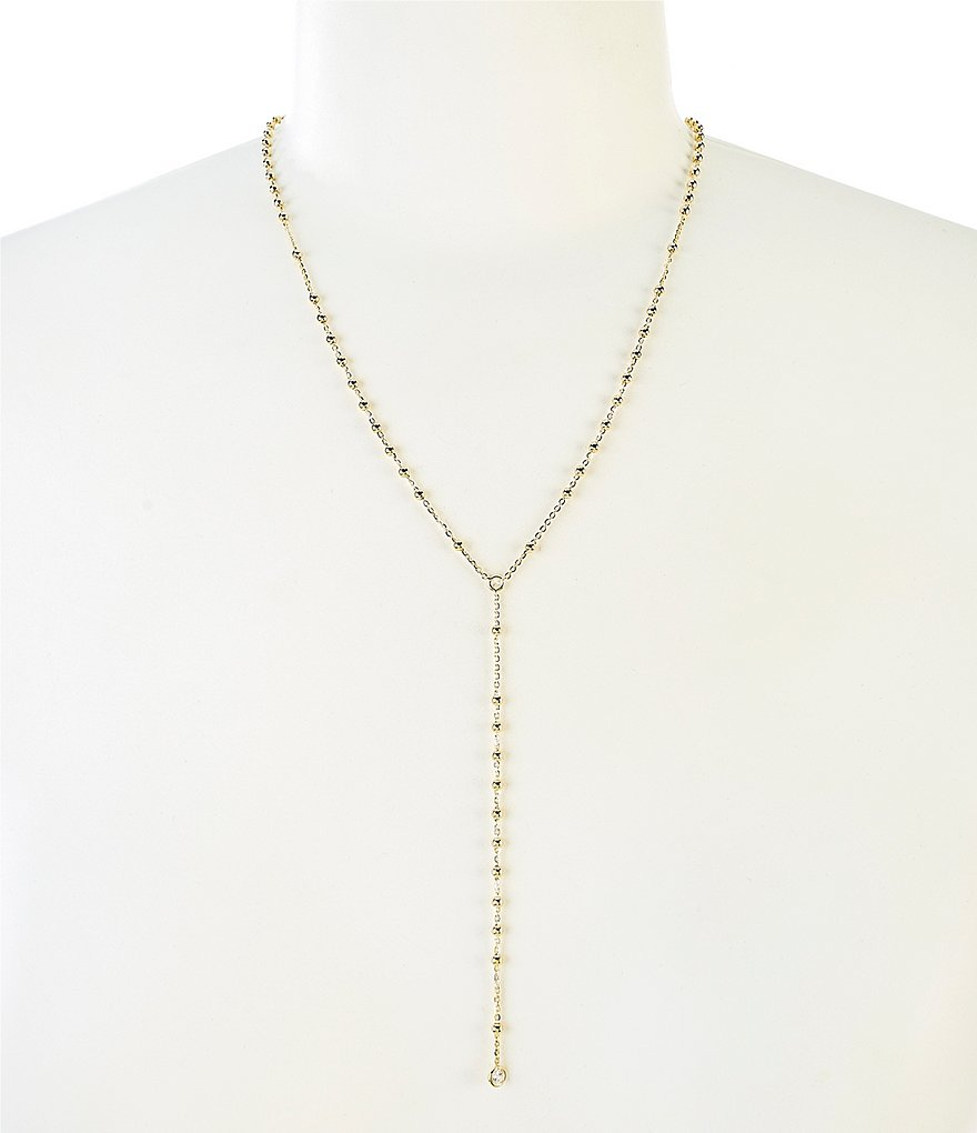 Nadri Bead Station Y-Necklace