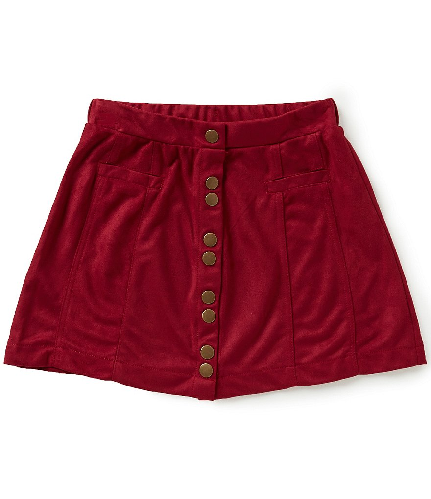 GB Girls Little Girls 4-6X Faux-Suede Button Front Skirt