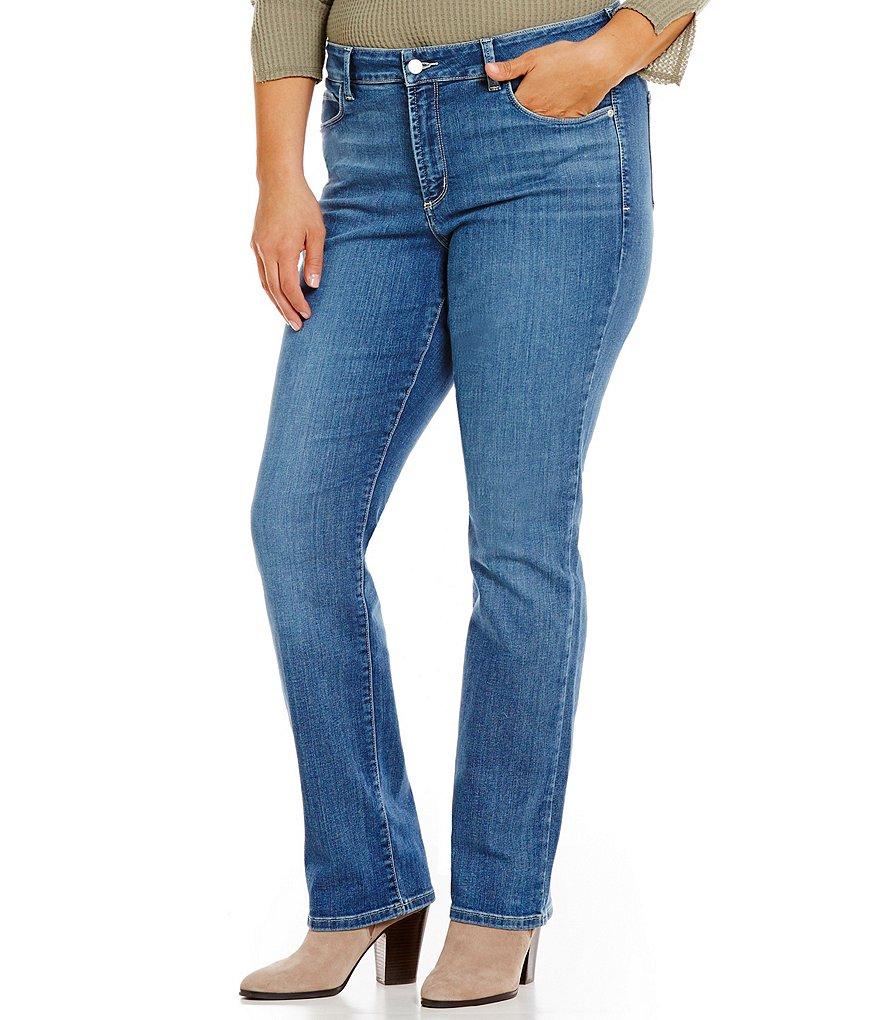 NYDJ Plus Marilyn 5-Pocket Straight Leg Jeans
