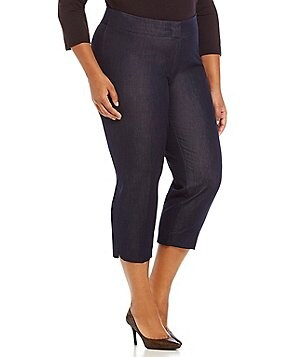 Peter Nygard Plus Morgan Denim Crop Pant