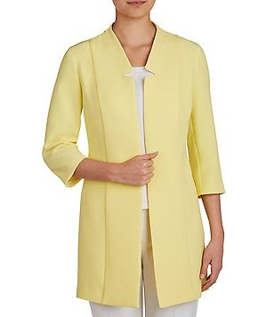 Peter Nygard Petite Notch Collar Textured Jacket