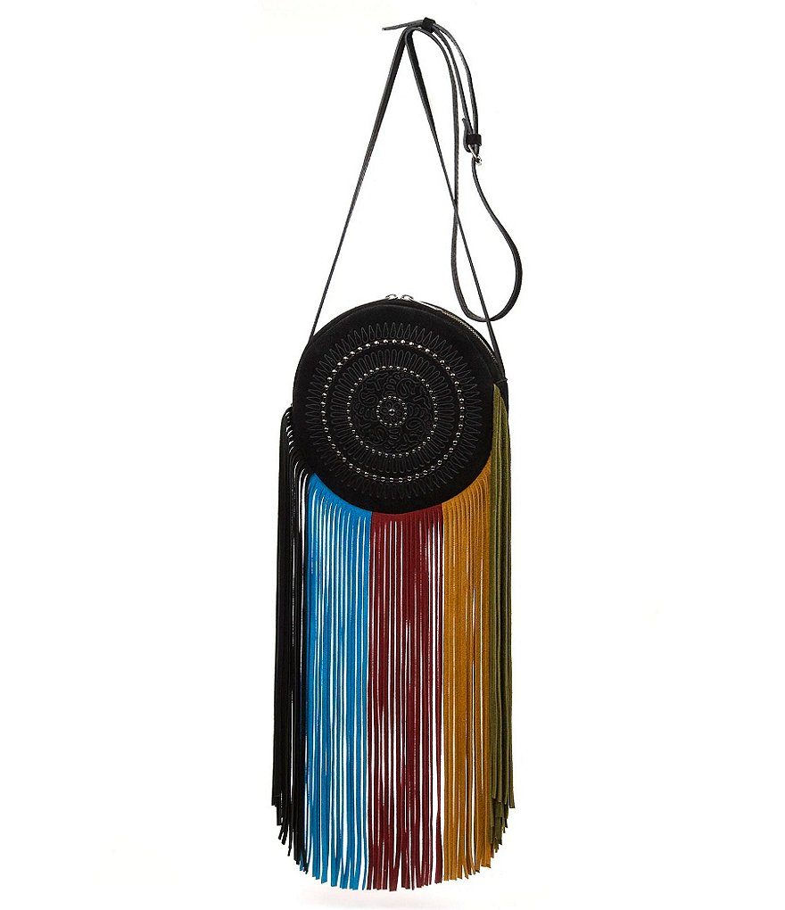 Patricia Nash Spring Boho Suede Collection Rovito Fringed Cross-Body Bag