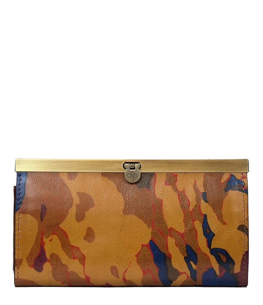 Patricia Nash Parisian Camo Collection Cauchy Frame Wallet