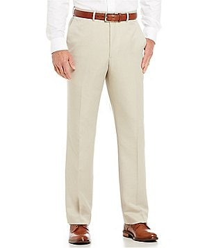 Roundtree & Yorke Big & Tall Travel Smart Non-Iron Flat Front Ultimate Comfort Microfiber Stretch Dress Pant