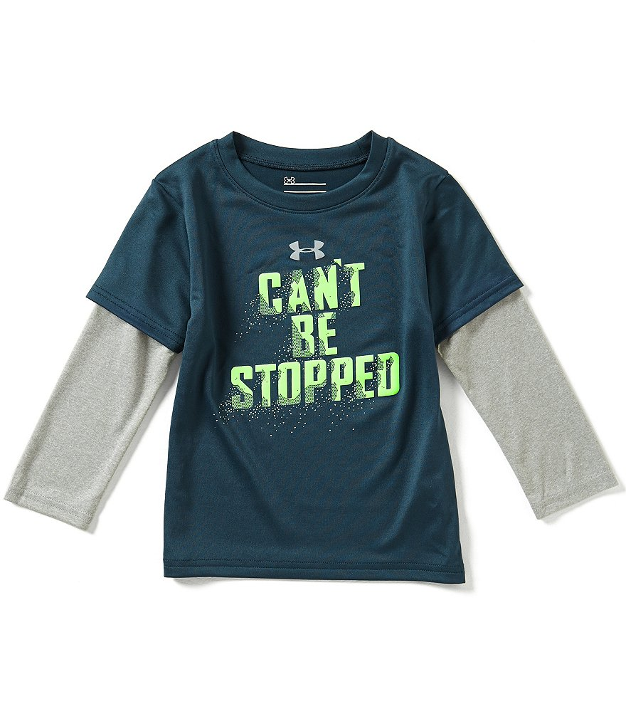 Under Armour Little Boys 2T-7 Can't Be Stopped Color Block Slider Tee