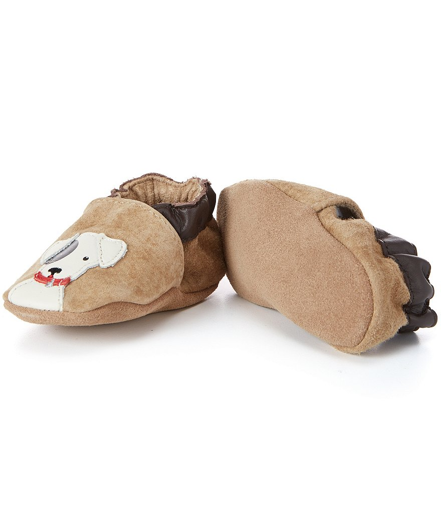 Robeez Baby Boys Doggy Dale Soft Sole Crib Shoes