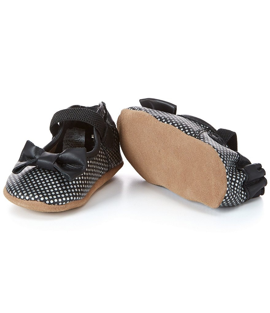 Robeez Baby Girls Spotted Shannon Mary Jane Soft Sole Crib Shoes