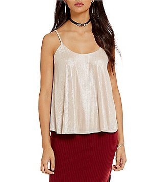 J.O.A. Sleeveless Glitter Top