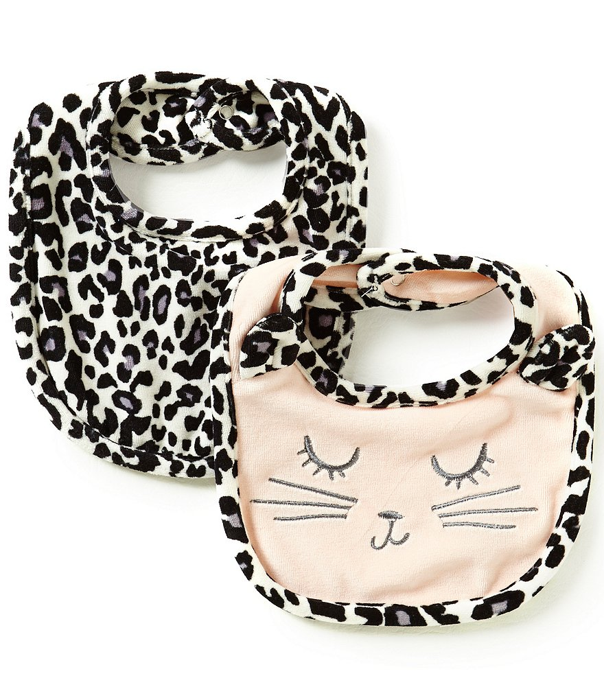 Jessica Simpson Baby Girls Animal-Print Bib 2-Pack