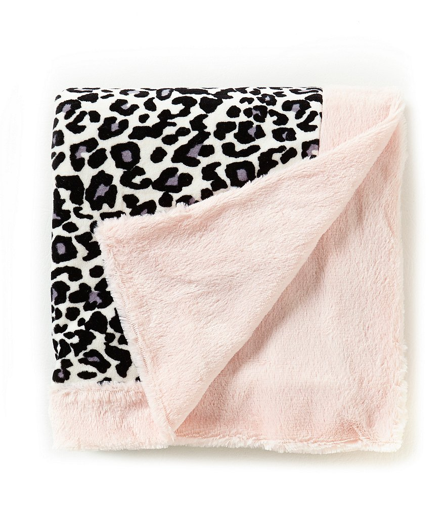 Jessica Simpson Baby Girls Two-Tone Animal-Printed Blanket