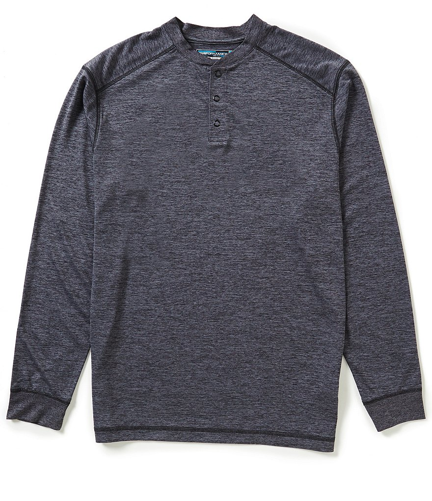Roundtree & Yorke Performance Big & Tall Long-Sleeve Henley
