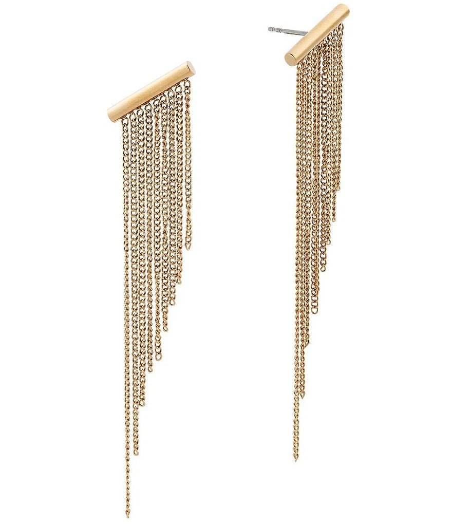 Michael Kors Gold Fringe Drop Earrings