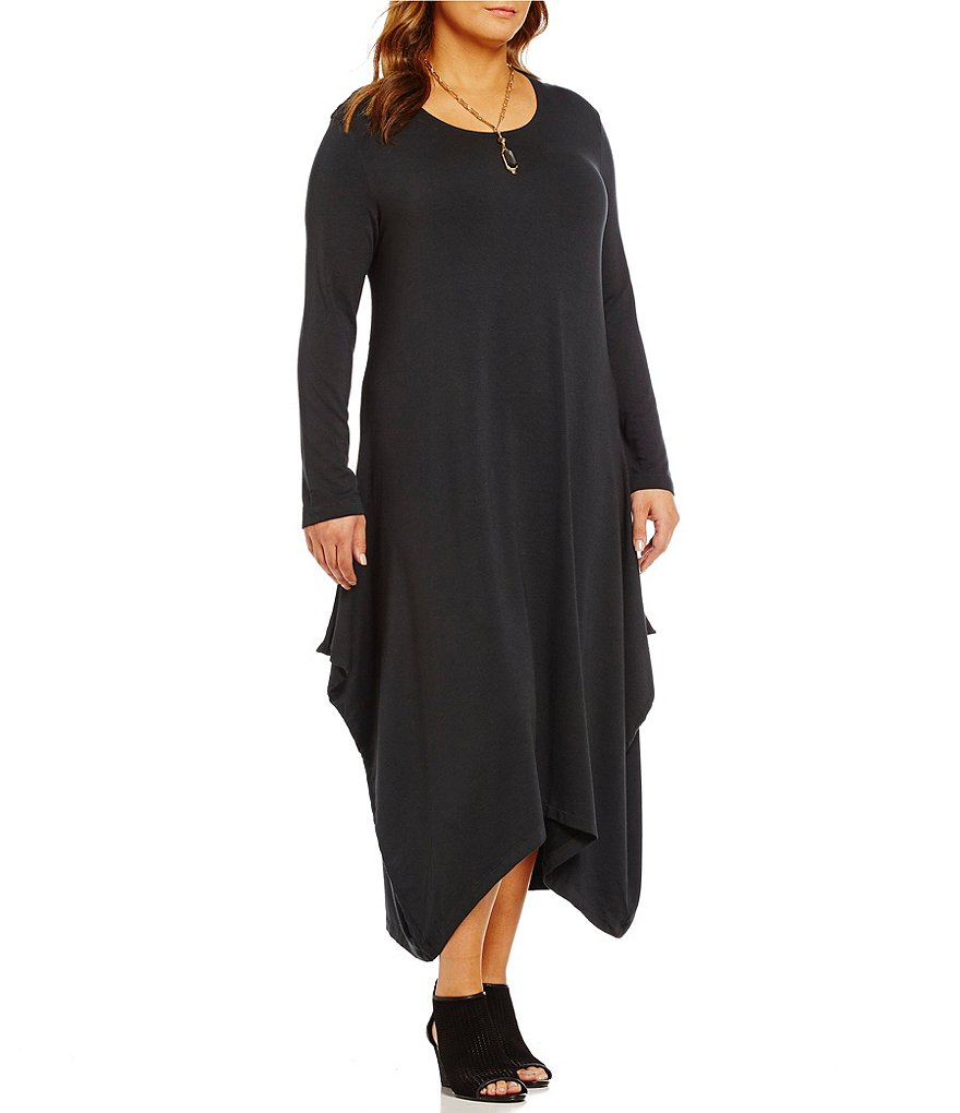 Bryn Walker Plus Chelsea Trapeze Long Sleeve Dress