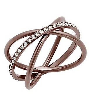 Michael Kors Sable Crisscross Ring