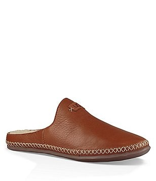 UGG® Tamara Leather Decorative Stitching Slip On Open Back Mules