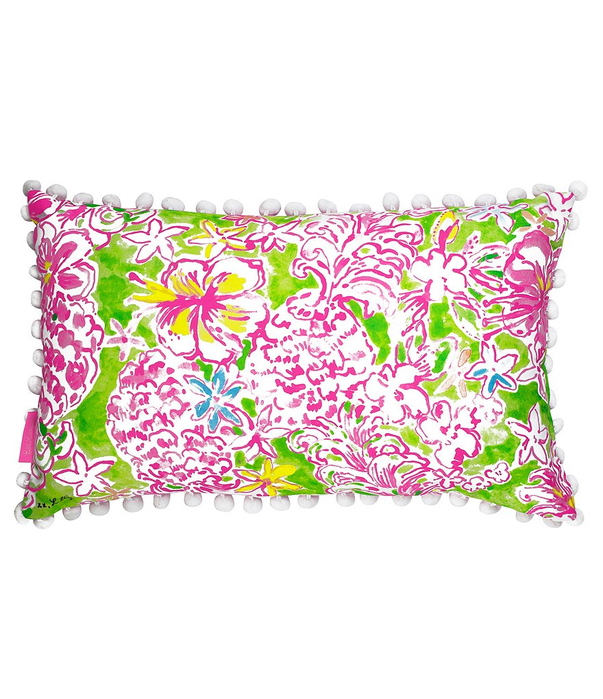 Lilly Pulitzer Lolita Floral Canvas Indoor/Outdoor Pillow