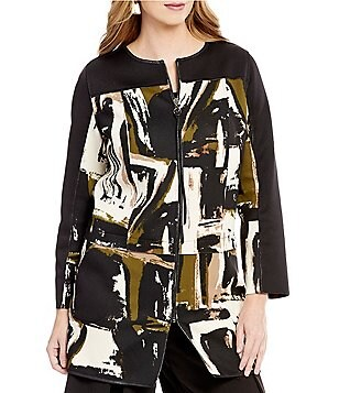 IC Collection 3/4 Sleeve Printed Scuba Tunic