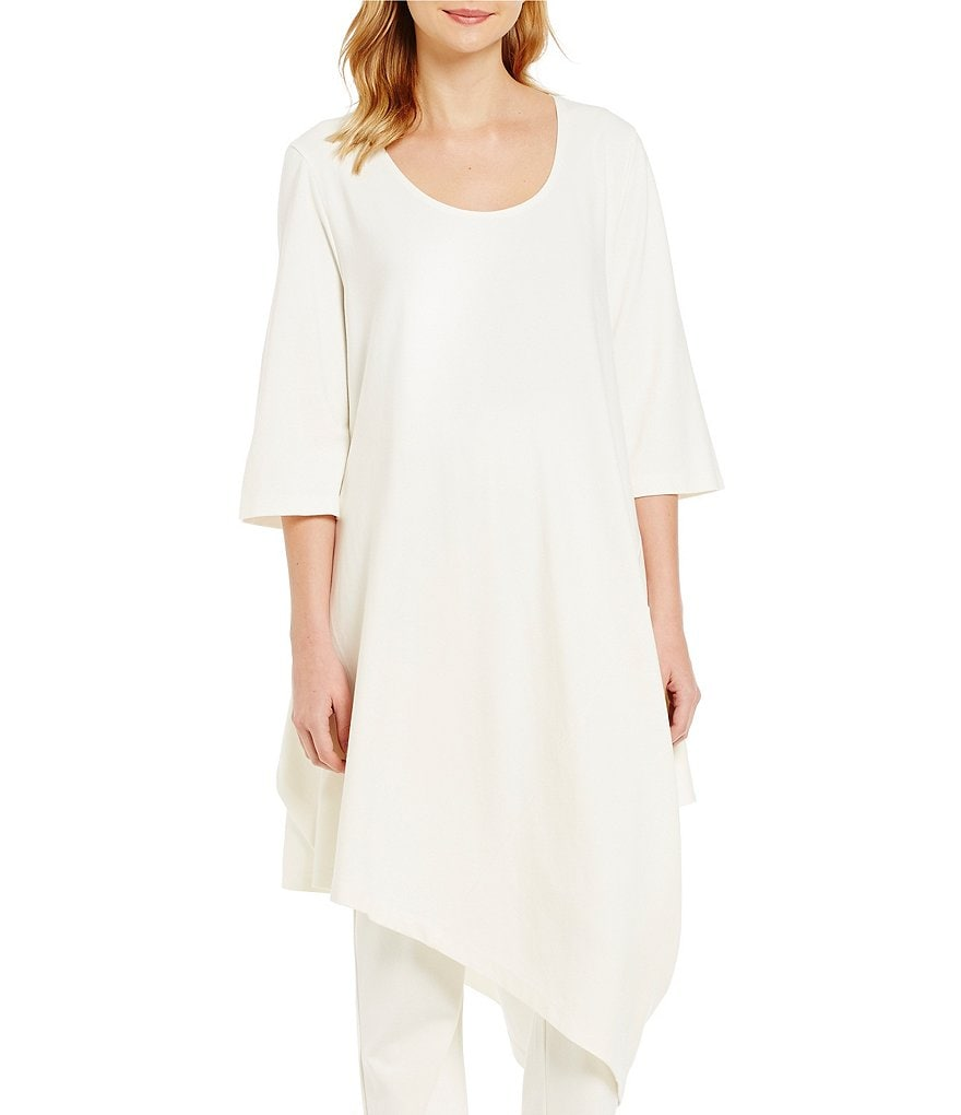 Bryn Walker Naida Ponte Pointed Hem Tunic