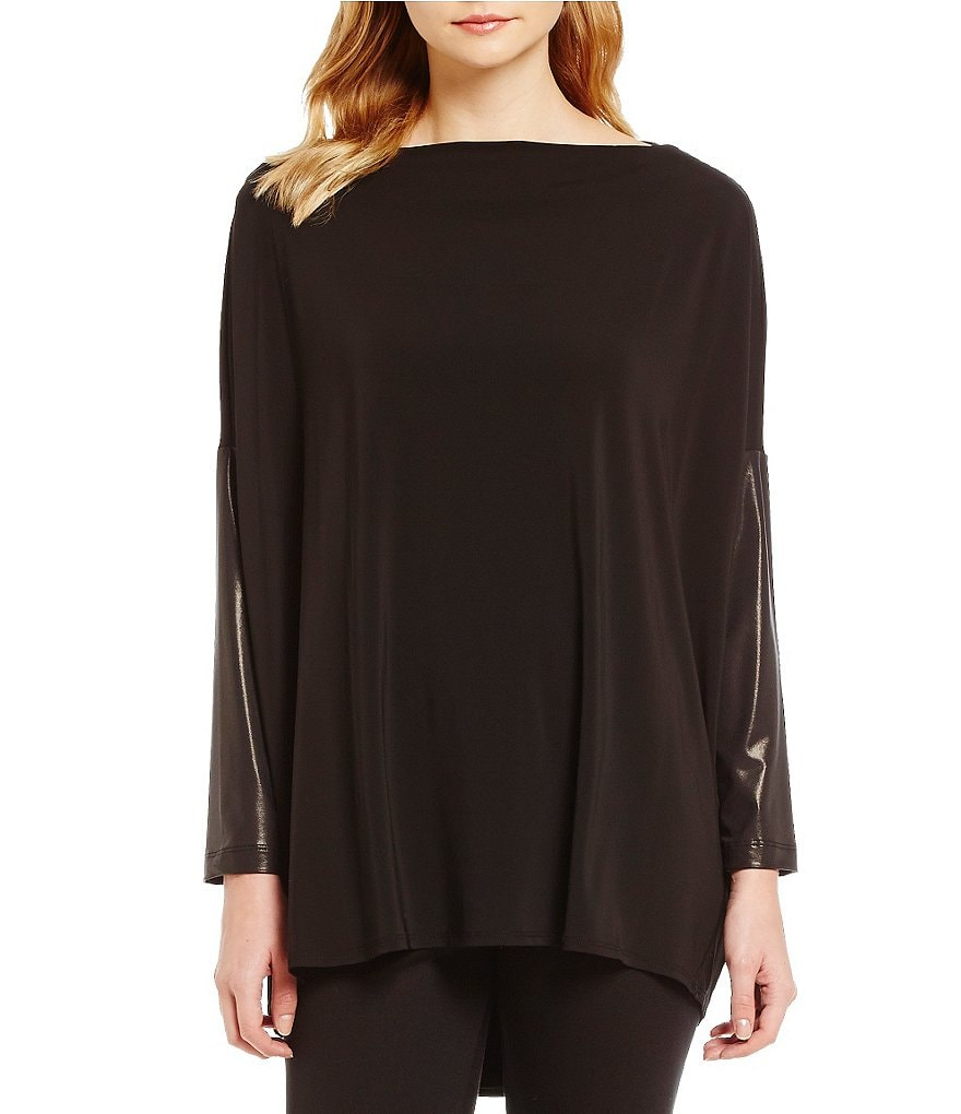 Bryn Walker Dimitri Cowl Neck Long Sleeve Solid Tunic