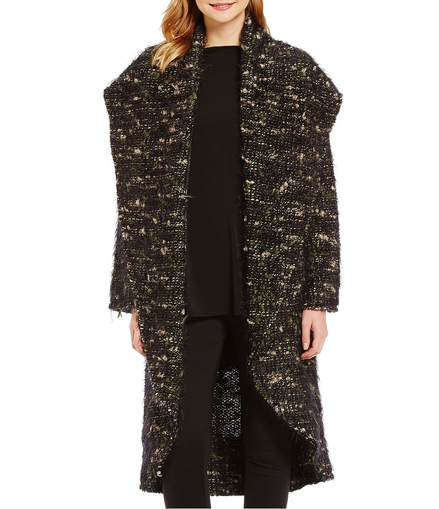 Bryn Walker Long Wrap Shawl Collar Wool Coat