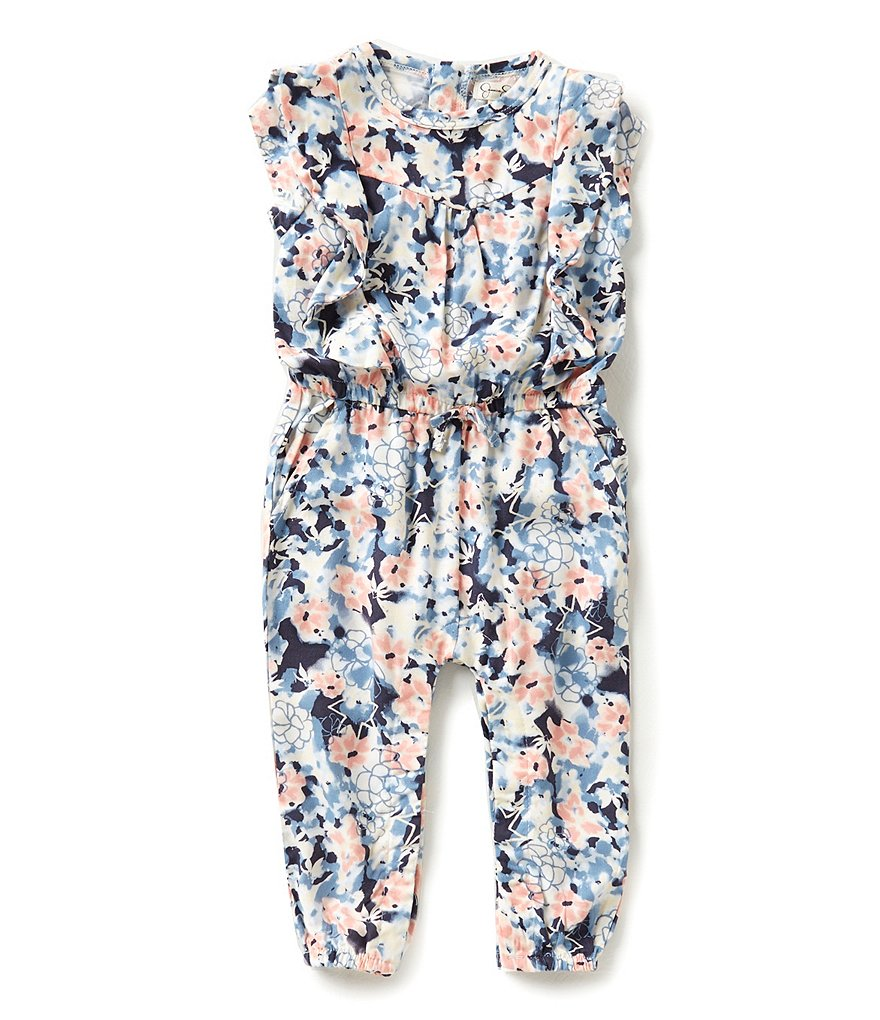 Jessica Simpson Baby Girls 12-24 Months Floral Coverall