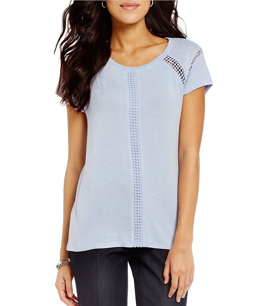 Peter Nygard Lace Trimmed Tee