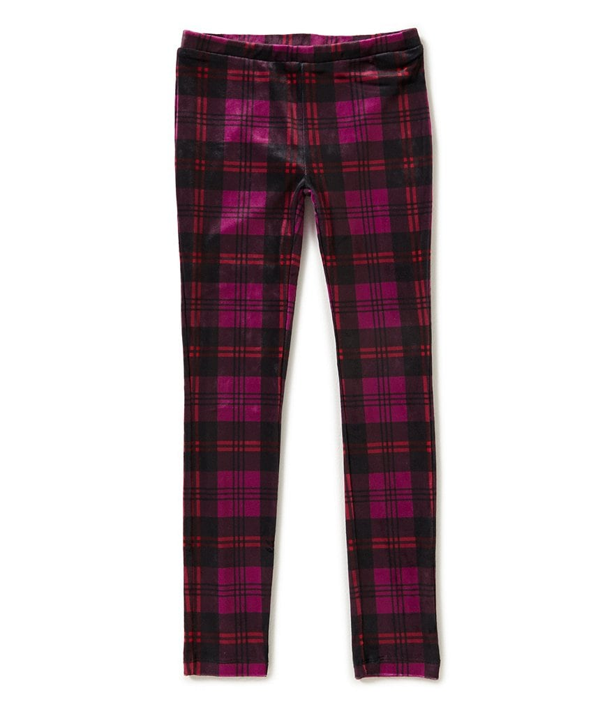 Jessica Simpson Big Girls 7-16 Jenny Plaid Velveteen Pants