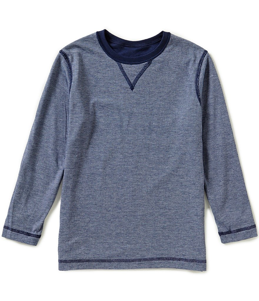 Class Club Little Boys 2T-7 Reversible Crew Long-Sleeve Tee