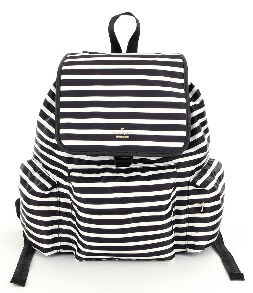kate spade new york Clay Classic Nylon Striped Backpack