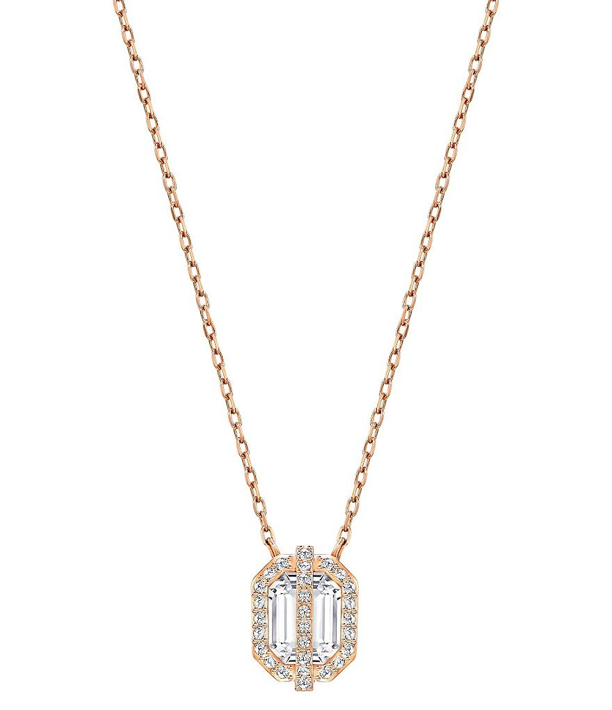 Swarovski Favor Pavé Crystal Pendant Necklace