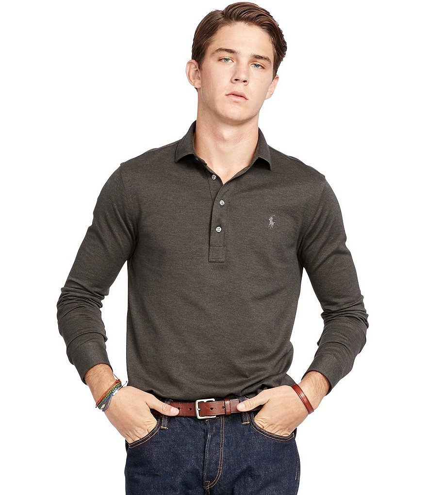 Polo Ralph Lauren Cotton Solid Jacquard Popover Shirt
