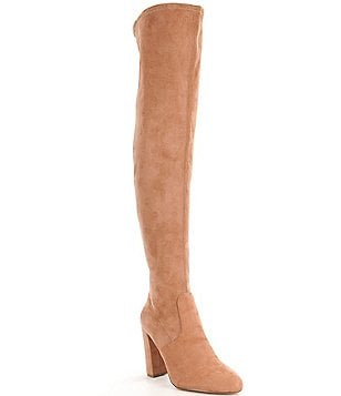 Steve Madden Emotions Over The Knee Pull On Back Zipper Boots