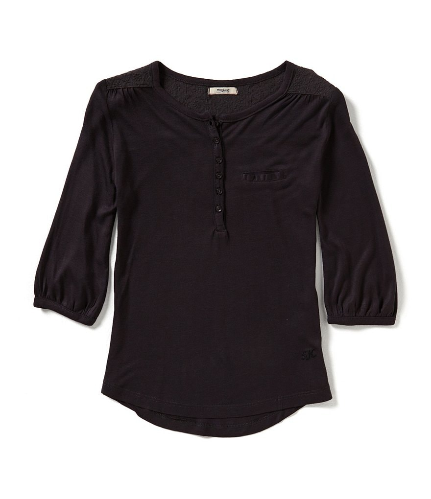 Silver Jeans Co. Big Girls 7-16 Lace-Inset Top