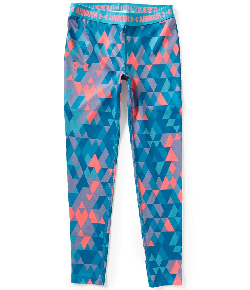 Under Armour Big Girls 7-16 HeatGear® Geometric Printed Leggings