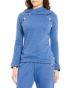 Lucky Brand Hooded Fleece Lounge Top