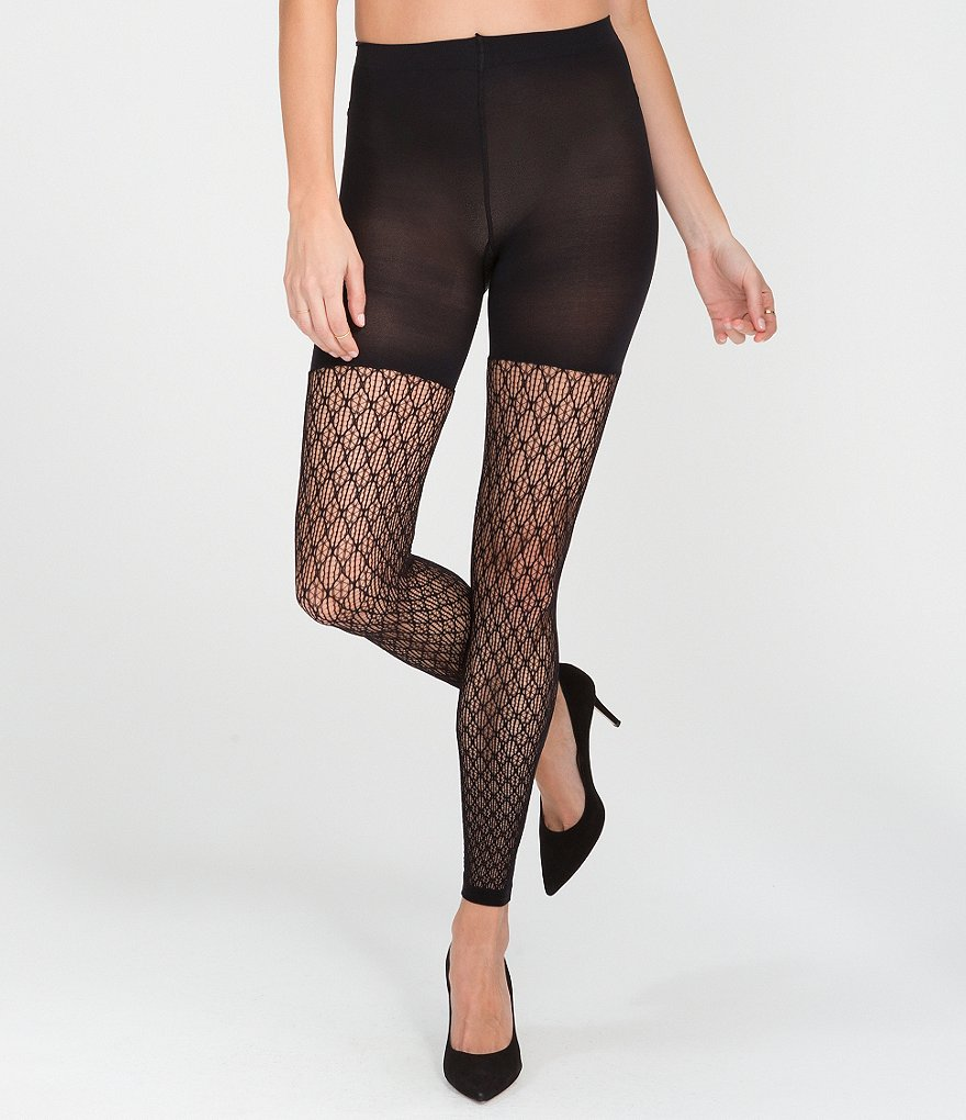 Spanx Geometric Footless Tights
