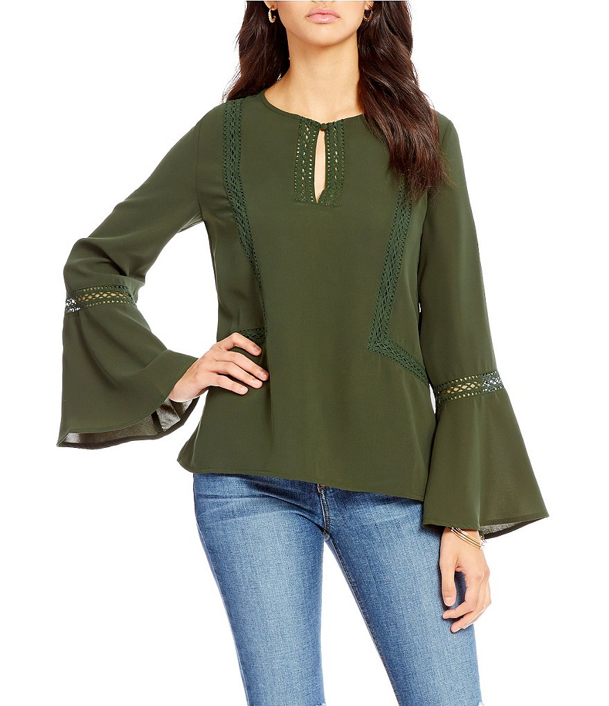 Sugarlips Bell Sleeve Blouse