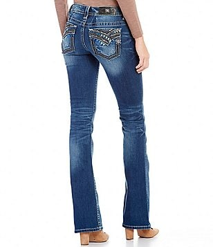 Miss Me Low-Rise Bootcut Denim Jeans