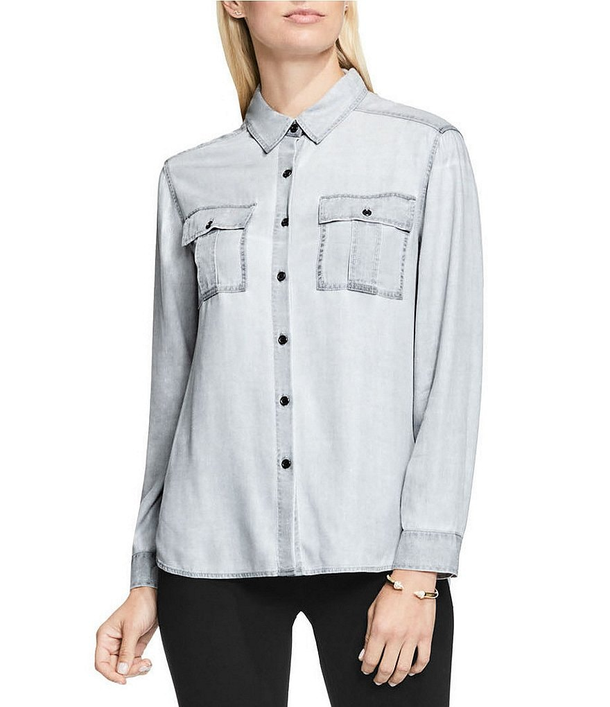 Two by Vince Camuto Pastel Faded Utility Shirt