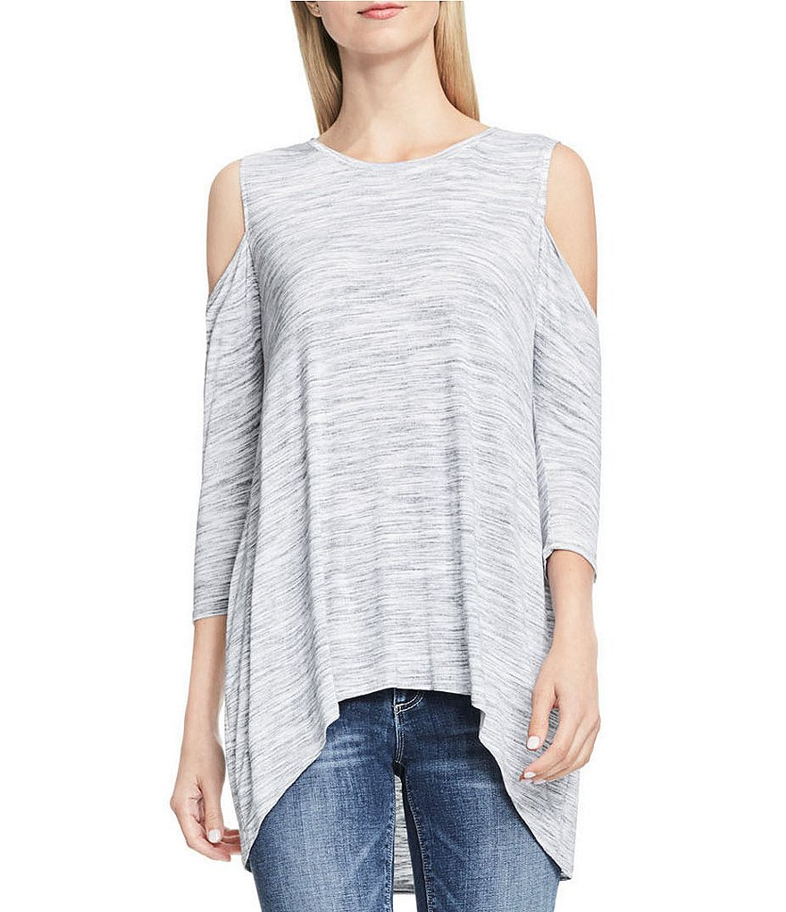 Two By Vince Camuto Cold Shoulder Space Dye Top