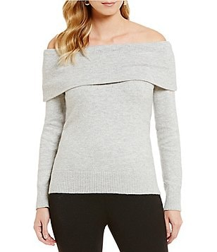 Vince Camuto Marilyn Off-The-Shoulder Solid Sweater