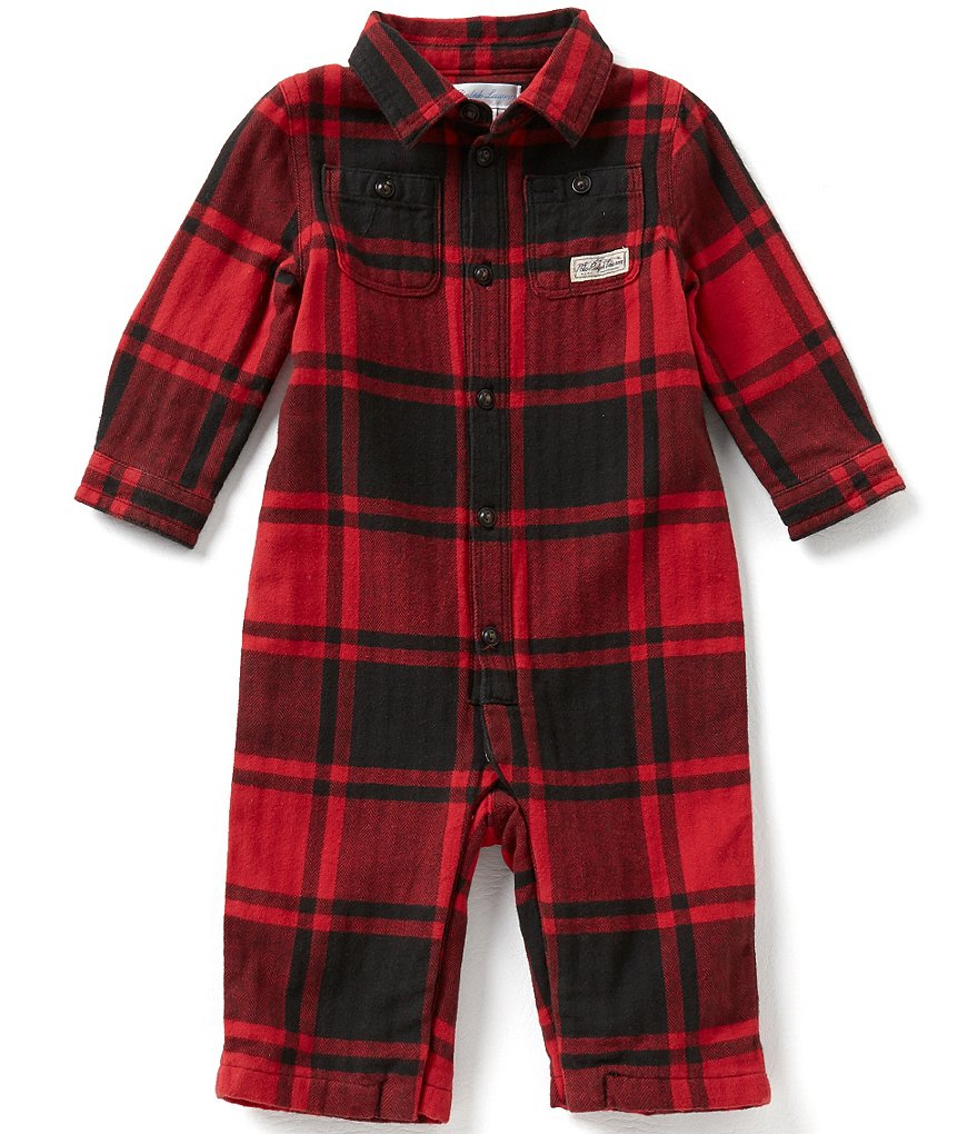 Ralph Lauren Childrenswear Baby Boys 3-12 Months Matlock Plaid Herringbone Coverall