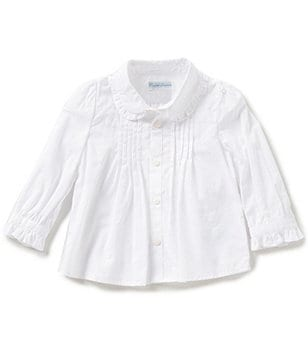 Ralph Lauren Childrenswear Baby Girls 3-24 Months Puffed-Sleeve Broadcloth Top
