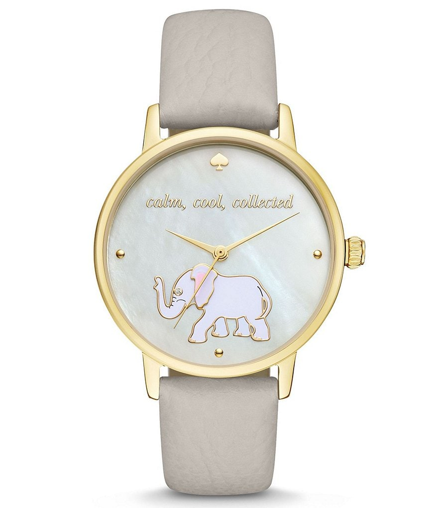 kate spade new york Metro Calm, Cool, Collected Leather-Strap Watch