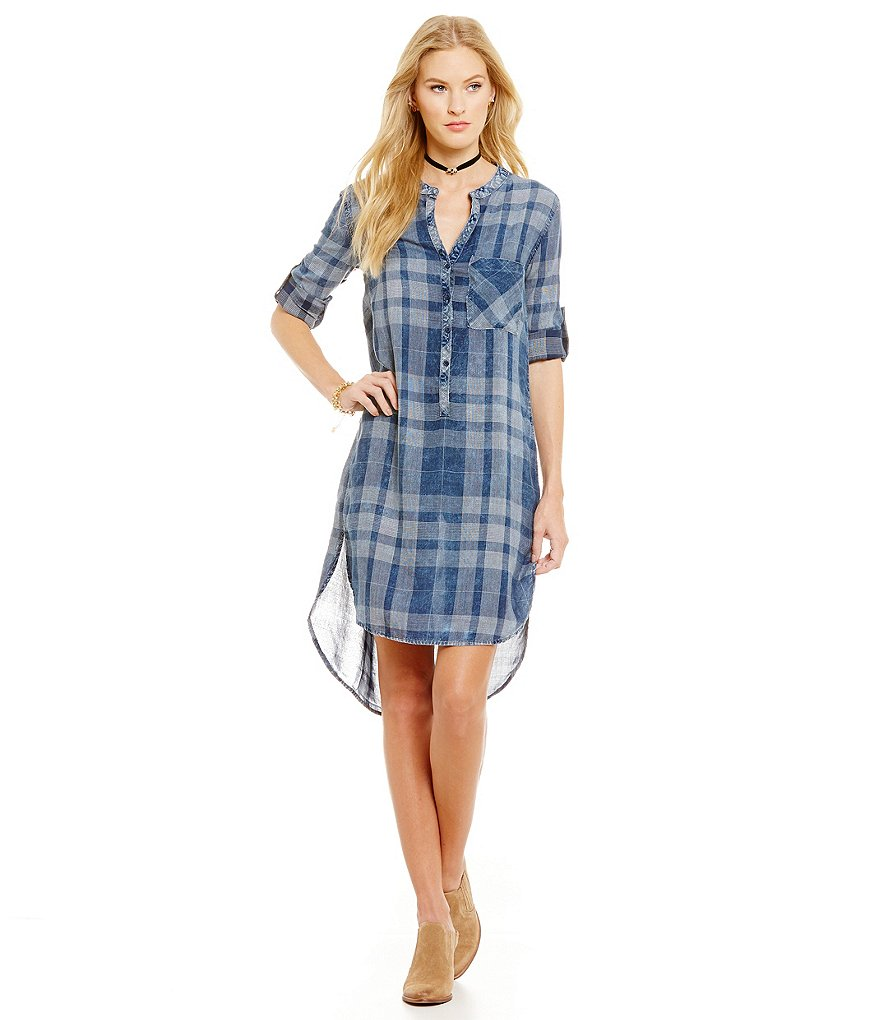 Chelsea & Violet Plaid Pullover Dress