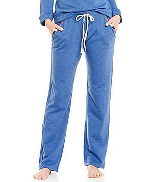 Lucky Brand Embroidered Fleece Lounge Pants