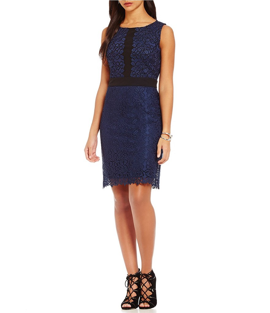 KARL LAGERFELD PARIS Lace Sleeveless Dress