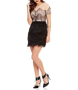 Sugarlips Lace Feather A-line Dress