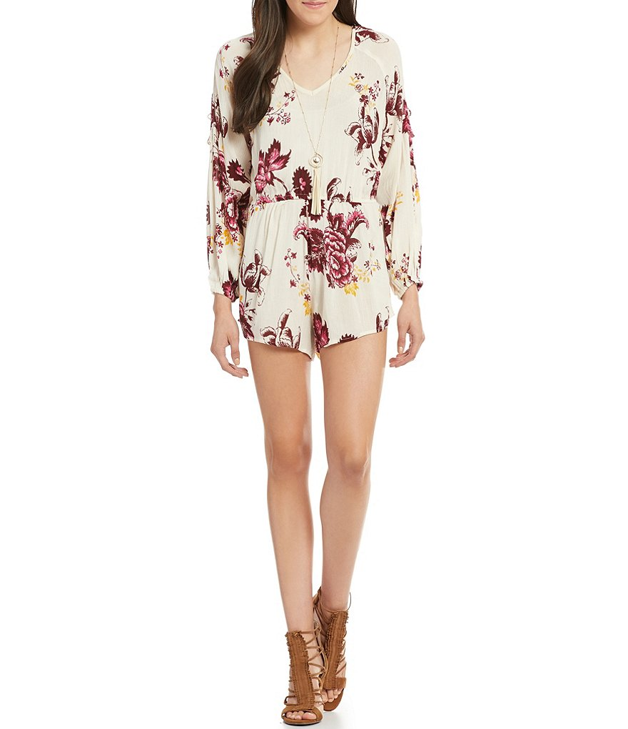 Billabong Moonlight Floral Print Romper