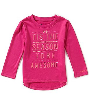 Under Armour Baby Girls 12-24 Months Christmas Tis The Season Long-Sleeve Tee